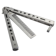 Hot Balisong Butterfly Comb Knifes Trainer Cool Sports Tool Knifes Tool