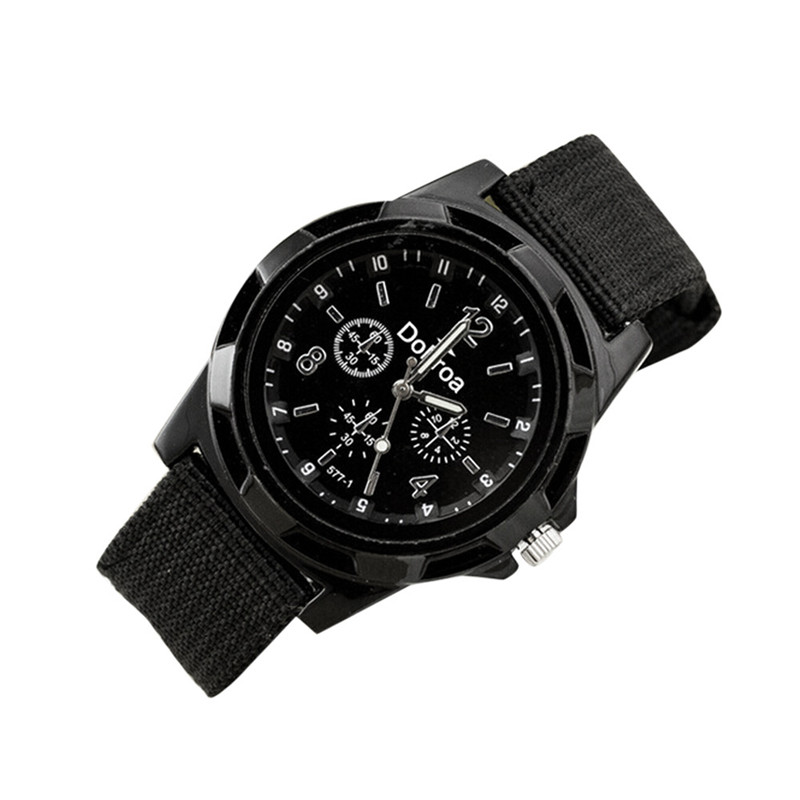 New Fashion Sport Braided Military Style Wristwatch Men Canvas Belt Fabric Strap Luminous Quartz Army Wrist Watches wholesale