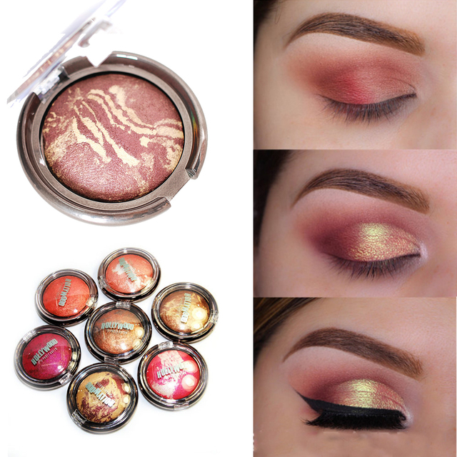 Party queen baked eyeshadow palette cheek bronzer color shimmer eyeshadow baked powder gold metallic eye shadow