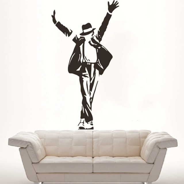 Good 2016 New Best Selling Dancing Michael Jackson Wall Stickers Removable Vinyl  Wall Decor Wall Decals Art Part 28