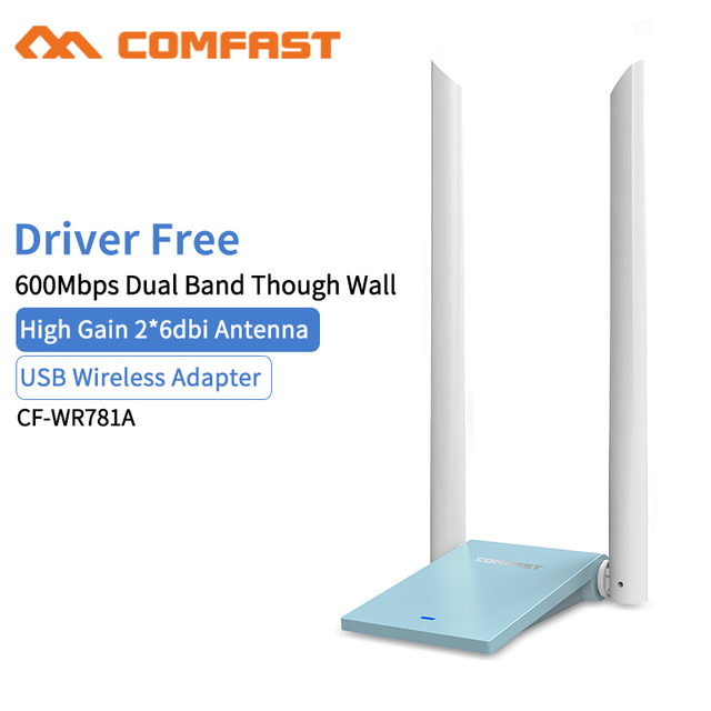 US $15 9 20% OFF|Dual Band Through Wall USB Wifi Adapter 8811CU 600Mbps  5G/2 4G USB Wireless Adapter 2*6 dbi Antenna Network Card wifi receiver-in