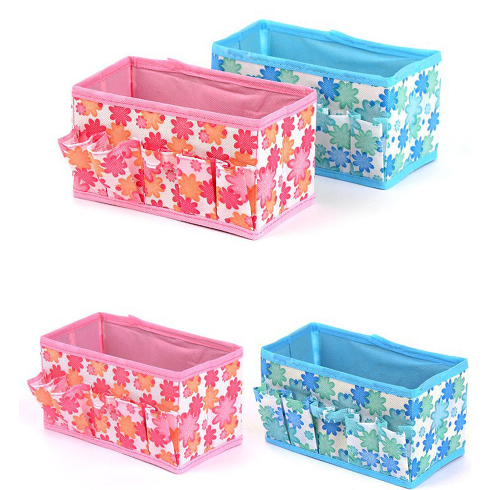 1PC Multifunctional Folding Makeup Desktop Cosmetic Organizer Storage Box Wardrobe Drawer Organizer For Scarfs Socks
