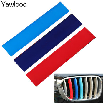 Yawlooc New 3 Color Car Sticker Front Grille Grill Vinyl Strip Sticker Decal For BMW M3 M5 E46 E60 E90 Car Styling image
