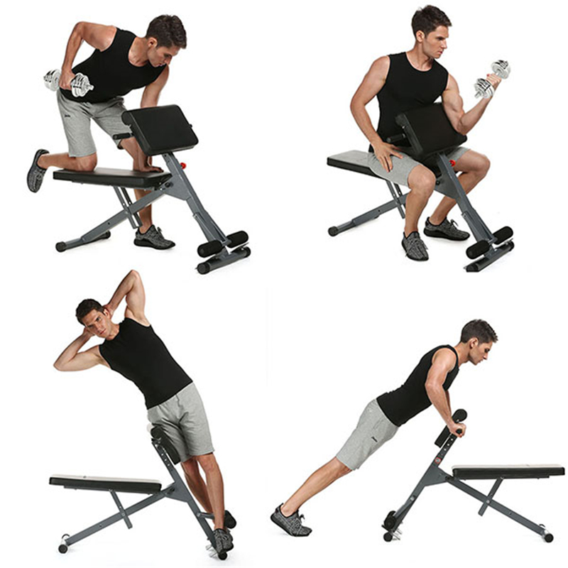 New Ancheer Stamina Pro Ab Bench Fitness Chair Core Strength Hyper Bench Multifunction Supine Dumbbell Fitness Machines for Home ancheer new x shape folding magnetic upright exercise bike with pulse fitness equipment 100kg magnetic upright fitness bike