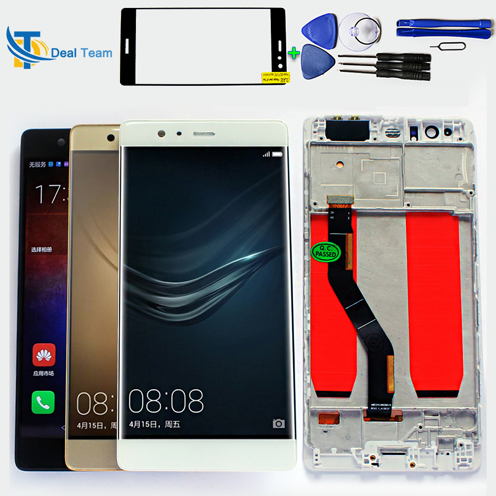 100 Tested LCD Display for Huawei P9 plus 5 5 inch Touch Screen Digitizer Assembly 1920