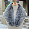 Real fox Fur Collar Scarf Womens Shawl Wraps Shrug Neck Warmer Stole Wholesale Hot sale Ring Scarf Womens L#28