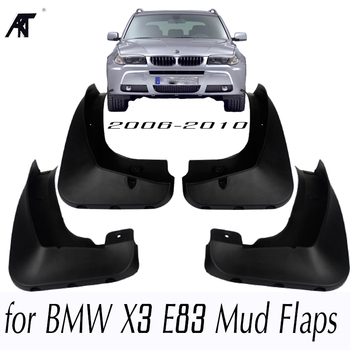 MOLDED MUDFLAPS FIT FOR BMW X3 E83 2007 2008 2009 2010 MUD FLAP SPLASH GUARD MUDGUARDS FRONT REAR FENDER ACCESSORIES