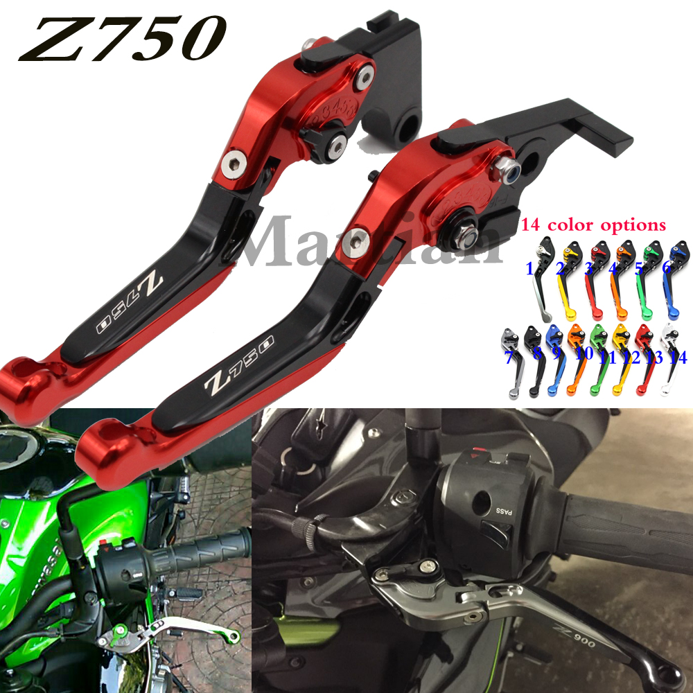 laser logo for kawasaki z750 z 750 not z750s model 2004 2005 2006 cnc orange folding extending motorcycle brake clutch lever [ 1000 x 1000 Pixel ]
