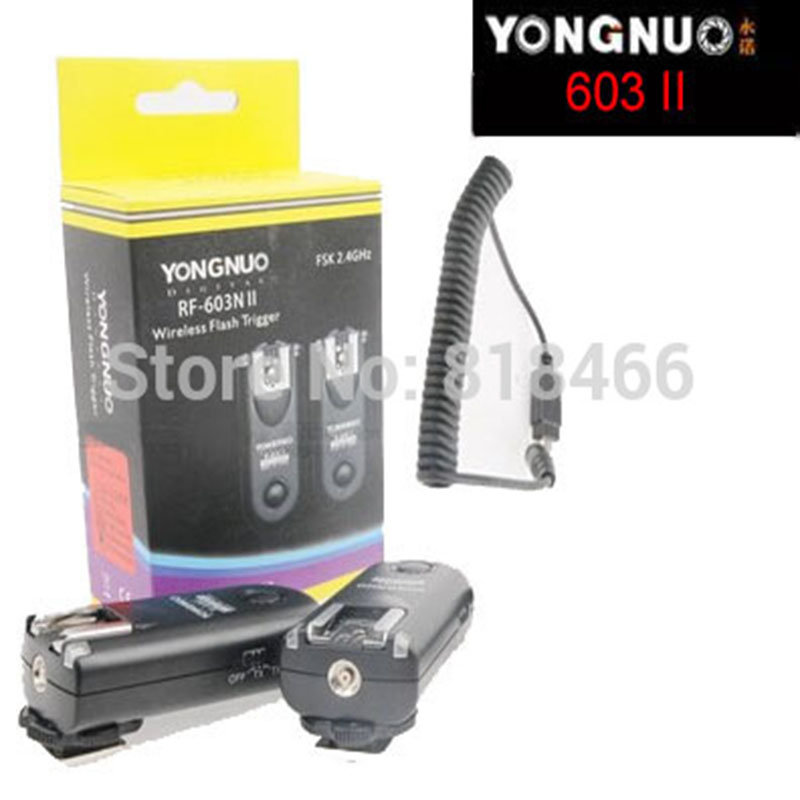 купить New designed Yongnuo RF-603II N1, RF603 ii RF 603 Flash Trigger 2 Transceivers for Nikon D3/D3X/D200/D300/D700/D300S/D800/D800E по цене 2039.93 рублей