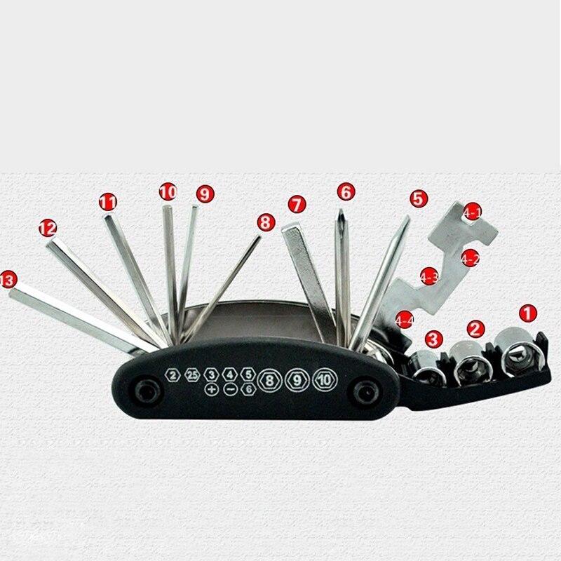 Image 3 - Многофункциональный шестигранный спицевой ключ скутер мотоцикл ремонт переносной набор инструментов