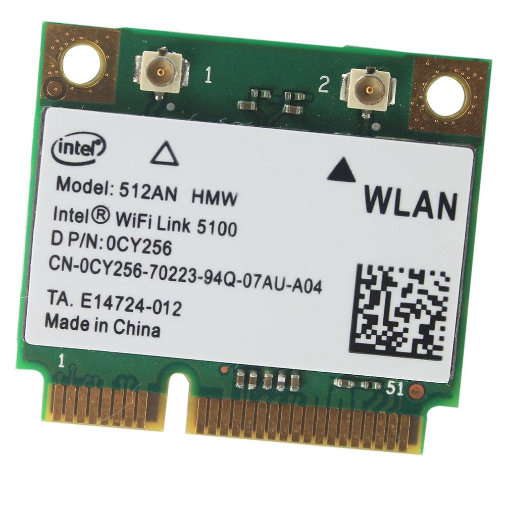 Original INTEL WiFi Link 5100 512AN_HMW A/G/N Dual Band WiFi WLAN Half Mini PCIe Card 300M