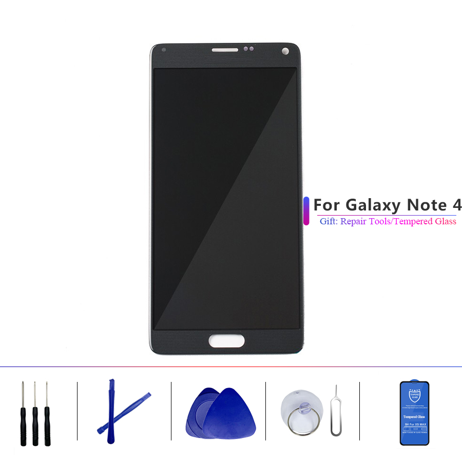 5.7''ORIGINAL LCD for SAMSUNG Galaxy Note4 Note 4 Display Touch Screen Digitizer Assembly N910 N910C N910A N910F