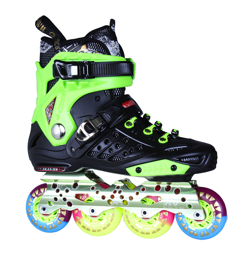 цена  XUANWU Roller Skate Shoes X5S Adult Ice Skates Roller Skating PVC In-line Skate Men or Women Slalom Shoes  онлайн в 2017 году