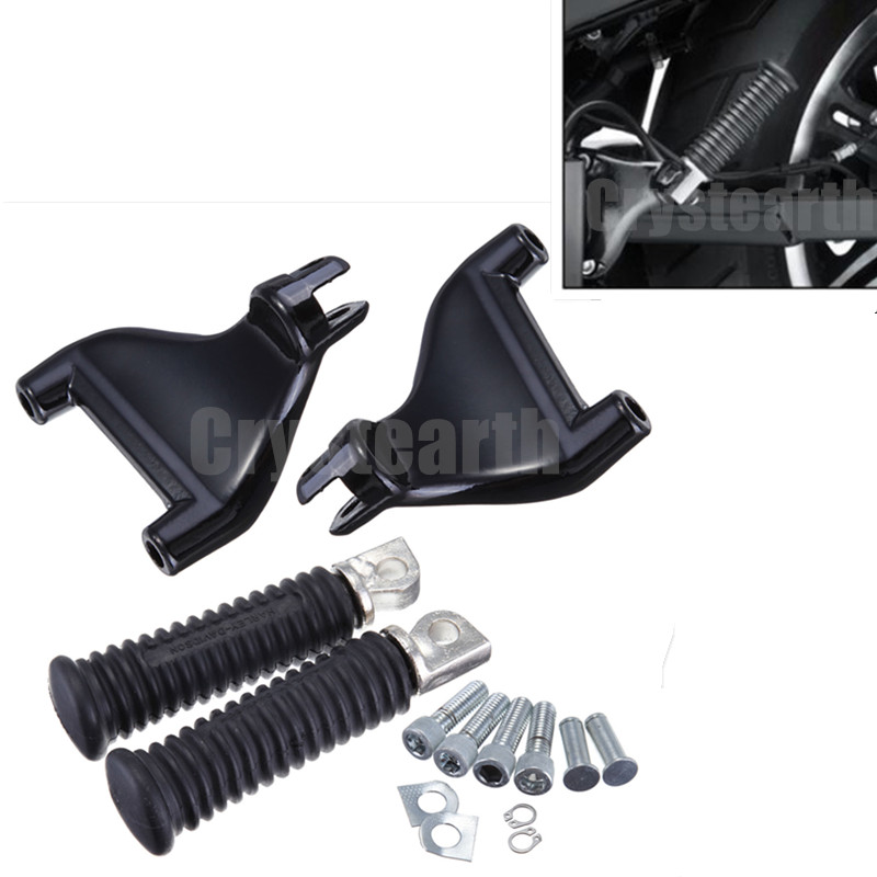For Harley 883 1200 XL Sportster 04-13 09 10 11 12 Motorcycle Rear Foot Pegs Footpegs Kit XL883 XL1200 Footrest Foot Rest Pedals motorcycle rear adjustable 1 2 3 lowering kit for harley sportster xl883 xl1200 2005 2013 hugger roadster low 48 72