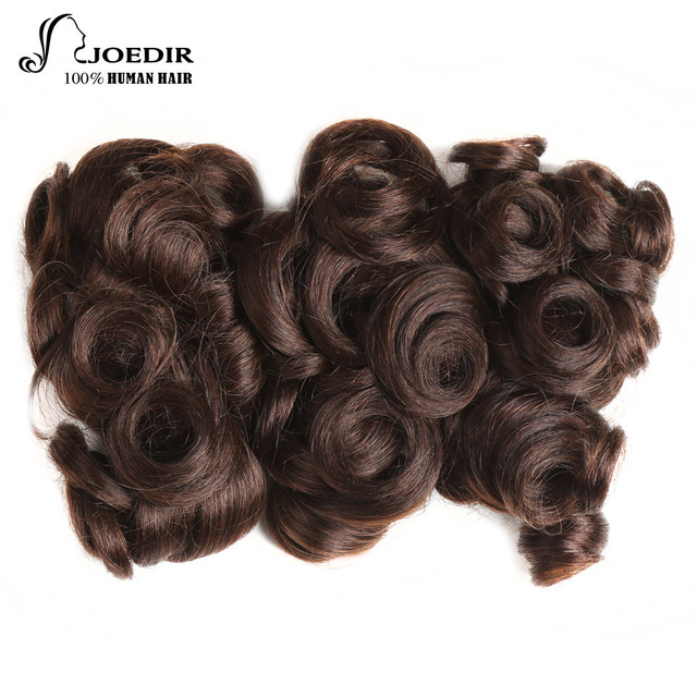 Joedir Pre Colored 3 Bundles Brazilian Glam Curl Hair 6 Inch 100