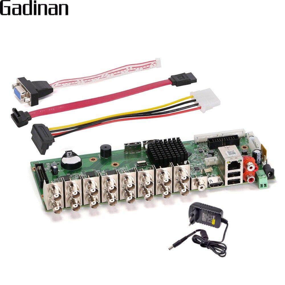 GADINAN 4CH 8CH 16CH 4M-N DVR XVI CCTV H.264+ Network Video Recorder AHD/CVI/TVI/CVBS HDMI Video 5 in 1 DIY Main BOARD ONVIF 5 in 1 security cctv dvr 4ch ahd 1080n h 264 hybrid video recorder for ahd tvi cvi analog ip camera onvif hdmi 1080p output