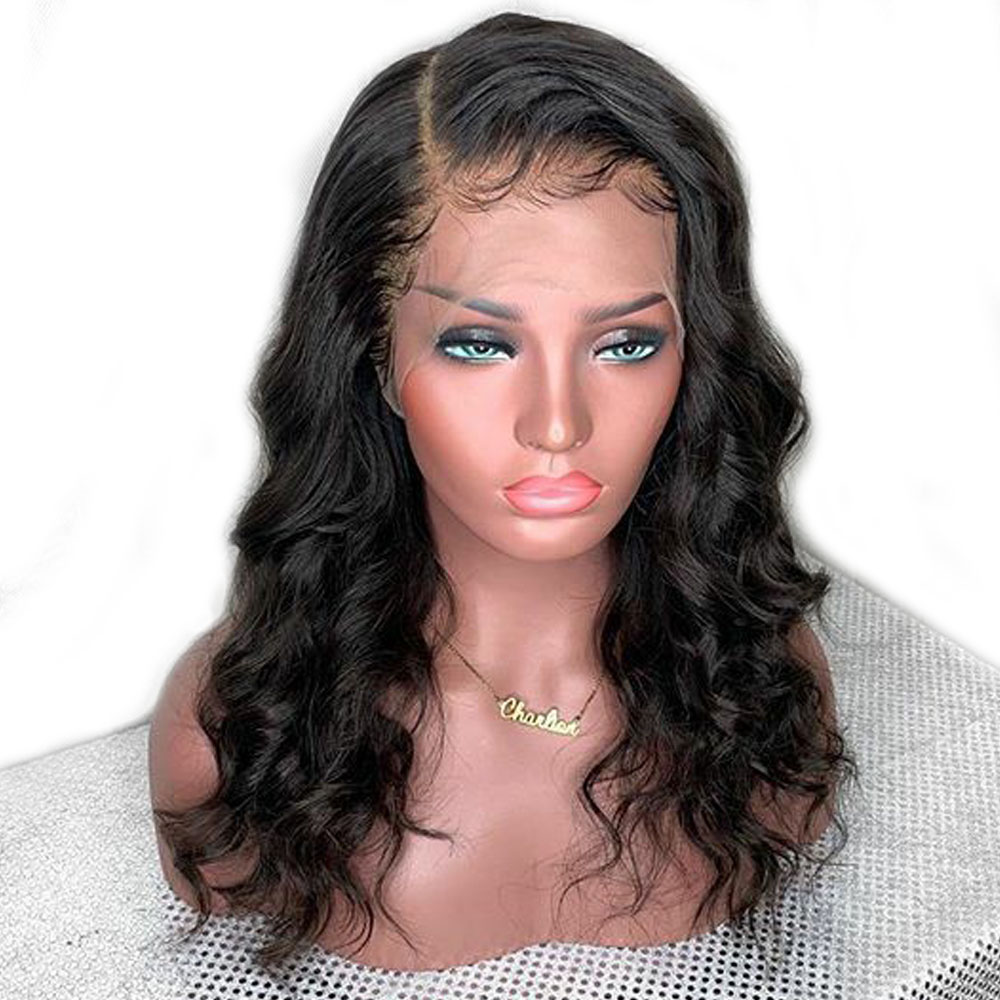 Wavy Wig Glueless Full Lace Human Hair Wigs Can Make Ponytail Brazilian Hair Wig Bleached Knots