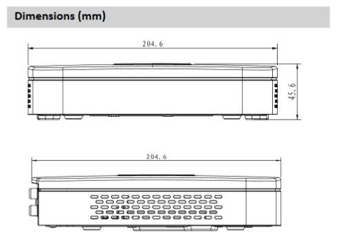 Dahua original com logotipo NVR4104 4ks2 NVR4108 4ks2 NVR4116 4ks2 inteligente 1u mini nvr h.265 8mp 4ch 8ch 16ch rede gravador de vídeo - 6