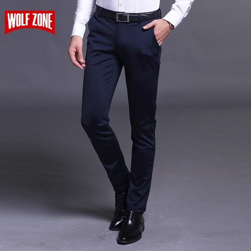 Άνοιξη και Καλοκαίρι Casual Παντελόνια Άνδρες Μάρκα Ένδυση Υψηλής Ποιότητας Βαμβάκι 2017 Νέα μόδα Ανδρικά Business Παντελόνια Πλήρους μήκους Flat