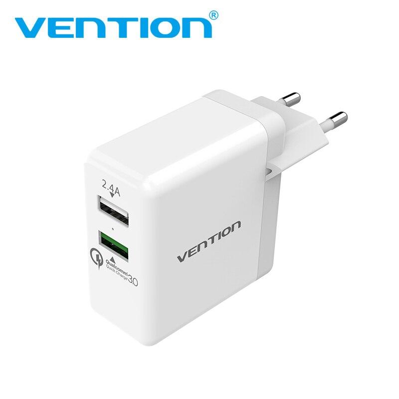 Convention Rapide Chargeur 3.0 2 port USB Chargeur UE Plug Blanc Mobile Téléphone Chargeur Pour XiaoMi HTC Google QC3.0 Rapide Chargeur Mural