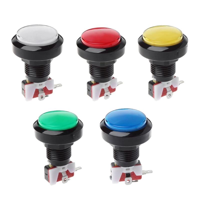 New 45mm Push Arcade Button 12V Power LED Lit Round Micro Switch Vending Machine
