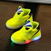 Children Shoes With Light Chaussure Led Enfant Spring Autumn New Cartoon Led Girls Shoes Sports Breathable