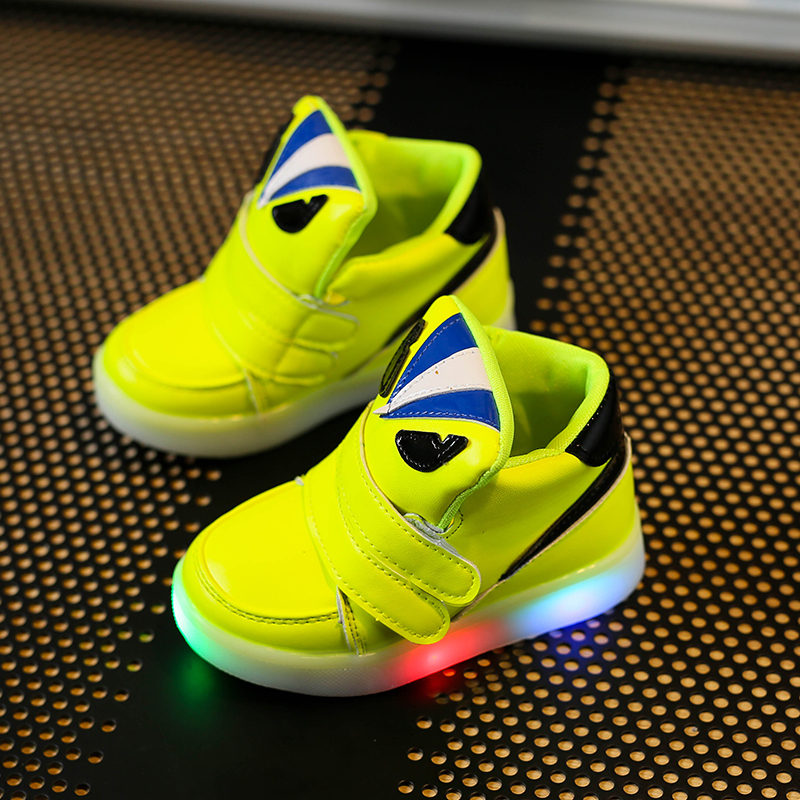 Children Shoes With Light <font><b>Chaussure</b></font> <font><b>Led</b></font> <font><b>Enfant</b></font> Spring Autumn New Cartoon <font><b>Led</b></font> Girls Shoes Sports Breathable Boys Sneakers Shoes
