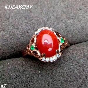 Image 1 - مجوهرات فاخرة من KJJEAXCMY من الفضة الإسترليني عيار 925 بحلقة من المرجان الأحمر للإناث ويمكن اختيار الشهادة من الفضة