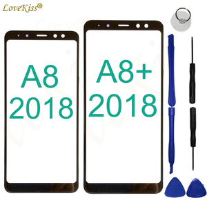 A8 A8+ 2018 Touchscreen Front Panel For Samsung Galaxy A8 Plus A8Plus 2018 A730 A530 Touch Screen Sensor LCD Display Glass Cover(China)