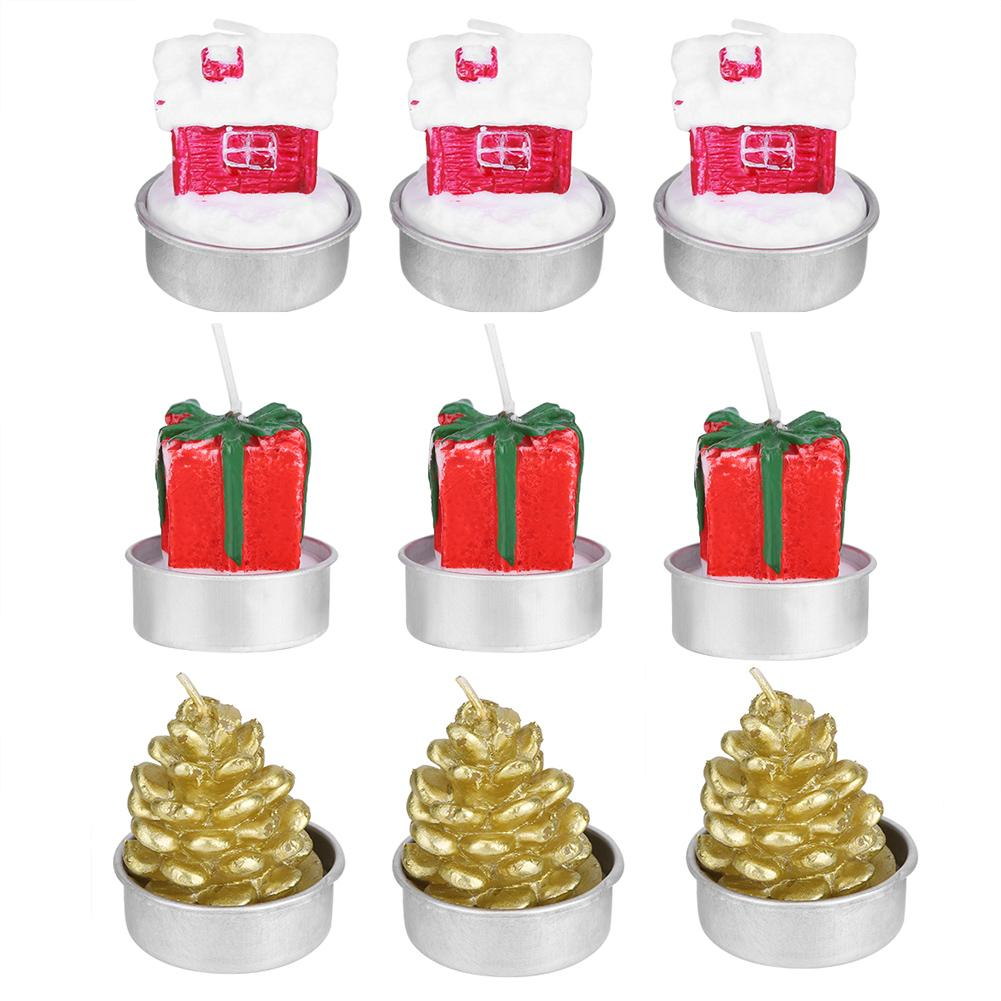 3PCSLot Decorative Candle Christmas Ornament Room Table Party Festival Decoration DIY Tool Accesory