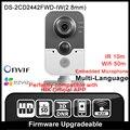 Hikvision ds-2cd2442fwd-iw (2.8mm) original inglés versión soporte poe ip cámara de 2mp wifi mini cámara ip p2p cámara hik onvif hd