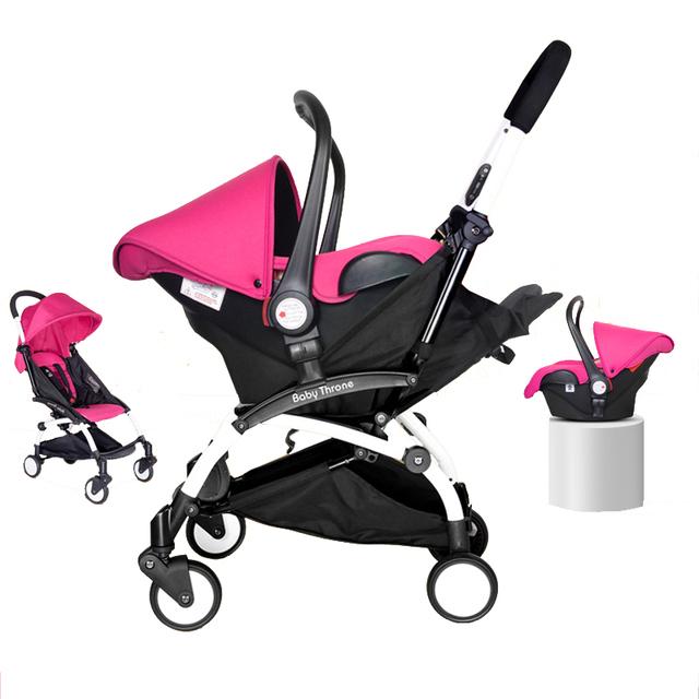 Carrinho de Bebê Carrinho De Criança 4 em 1 Infantil Do Bebê recém-nascido Dormir Cesta Assento De Carro da Segurança Do Bebê de Alta Qualidade Carrinho de Bebê Dobrável