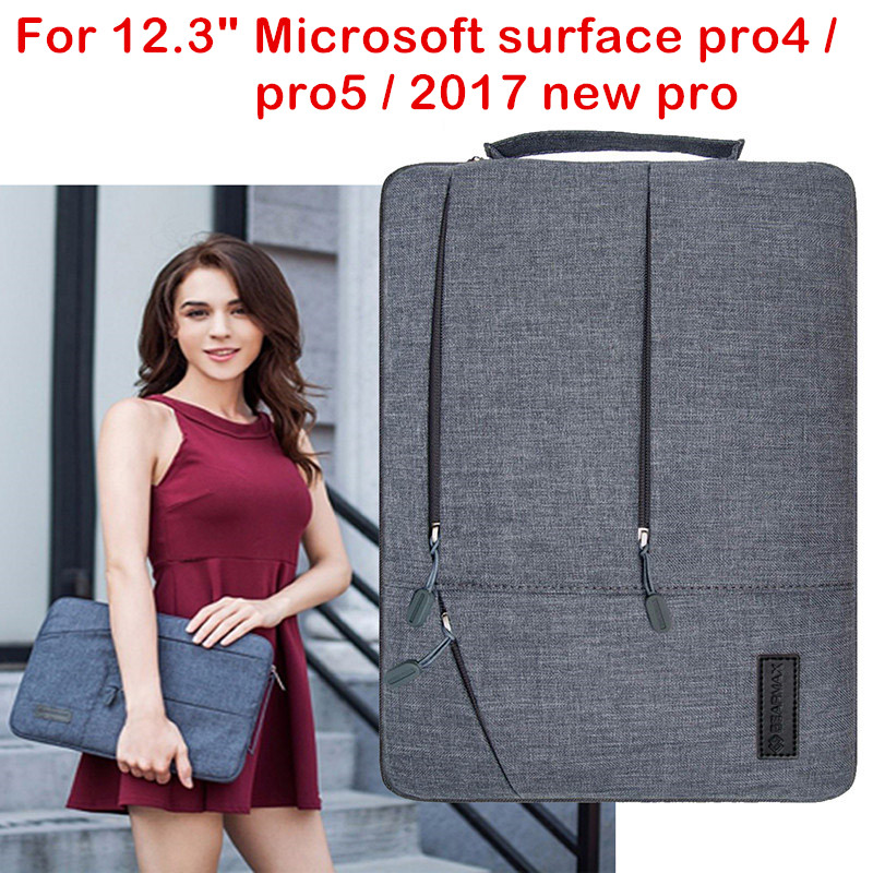 Laptop Sleeve Bag For Microsoft Surface Pro 4 5 2017 New Surface Pro Tablet PC Case Waterproof Hand Holder Pouch Keyboard Cover arrival selling ultra thin super slim sleeve pouch cover microfiber leather tablet sleeve case for ipad pro 10 5 inch