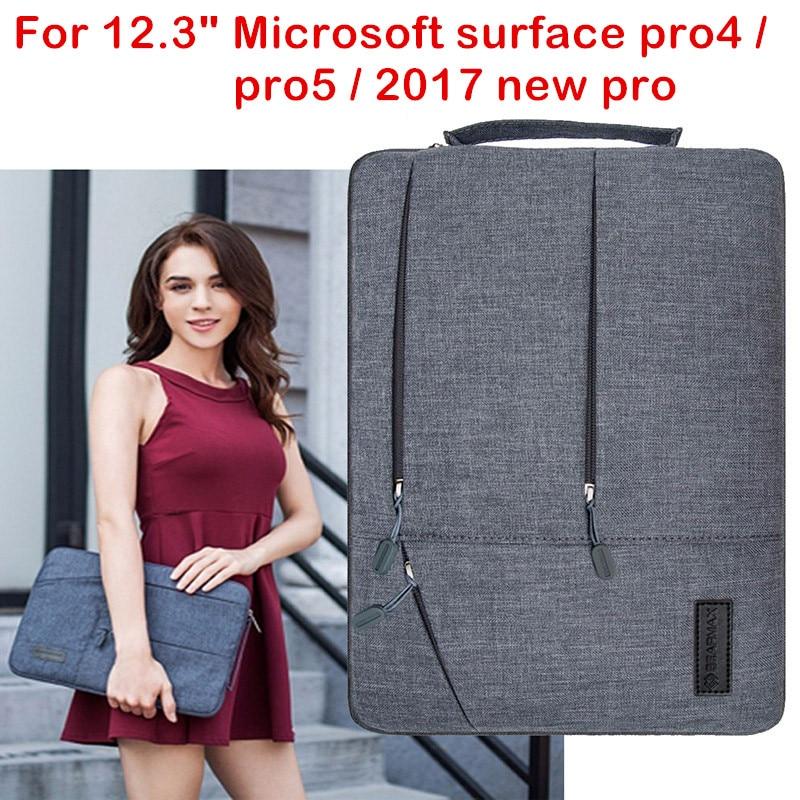 Bärbar dator väska till Microsoft Surface Pro 4 5 6 2017 New Surface Pro Tablet Case Vattentät Handhållare Påse Tangentbord Skal