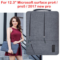 Laptop Sleeve Bag For Microsoft Surface Pro 4 5 6 2017 New Surface Pro Tablet Case Waterproof Hand Holder Pouch Keyboard Cover