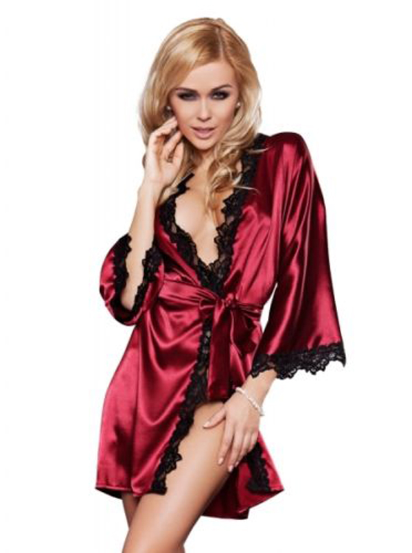 2016 New Design Women Sexy Lace Lingerie Satin Robe Sleepwear Women s Sexy  Nightwear Lingerie Babydoll Underwear 4addf107ba