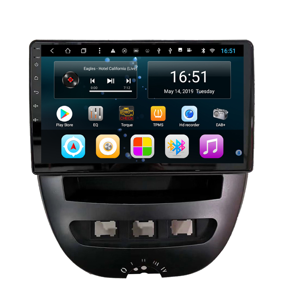 Car Radio Bluetooth Steering Wheel Precise GPS Navigation Multi-touch Screen  Mp3 Mp4 Player For Peugeot 107 9inch Android 8.1