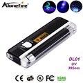 AloneFire DL 01 UV de luz negra de mano luz blanca linterna Detector de dinero identificación Anti-falsificación detección lámpara AA batería