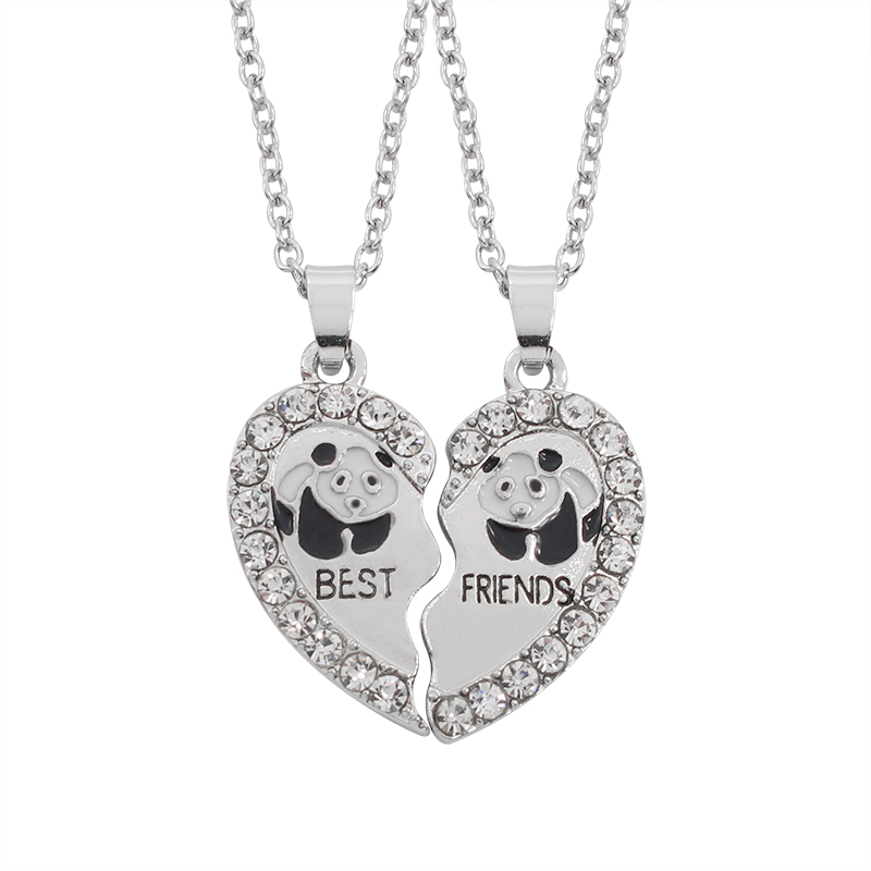 Four best friends sterling silver necklace ornata