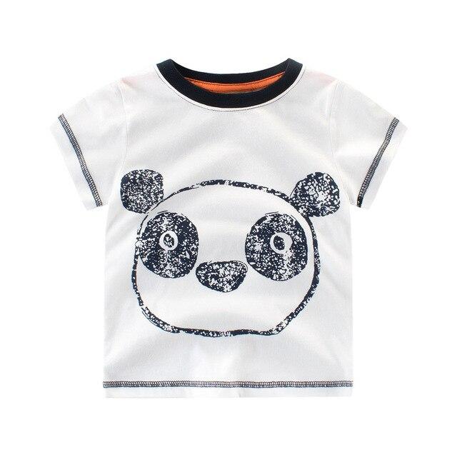 4612936e52e17 Arrivée Enfants T-shirt Garçons de Filles Blanc T Mignon Panda Motif  Impression T-