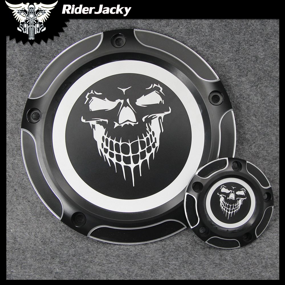 Motorcycle 5 Hole CNC Aluminum Black Derby Cover & Timing Timer Covers For Harley Touring Road King Softail Heritage CVO DynaMotorcycle 5 Hole CNC Aluminum Black Derby Cover & Timing Timer Covers For Harley Touring Road King Softail Heritage CVO Dyna
