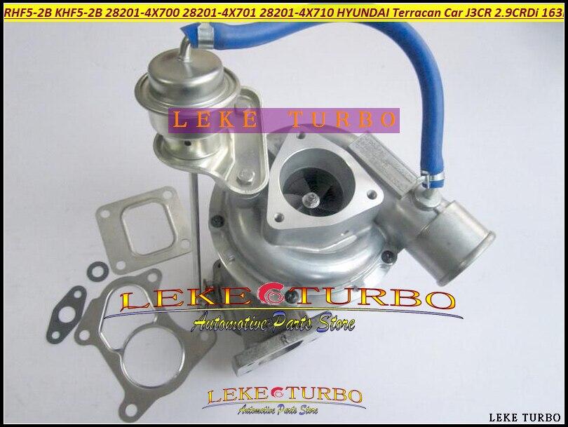 RHF5-2B KHF5-2B 28201-4X700 28201-4X701 28201-4X710 Turbo Turbocharger For HYUNDAI Terracan Car 2003-06 J3 J3CR 2.9L CRDi 163HP yb1302001 car turbo sound whistling turbocharger silver size l