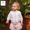 DB396-D fashinable de dave bella nueva primavera niñas prendas de vestir exteriores ocasional niños ropa fina capa