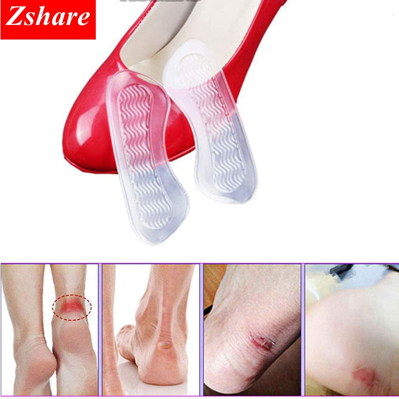 1 Pair Silicone Gel Women Heel Inserts Protector Foot Feet Care Shoe Insert Pad Insole Cushion HT-6