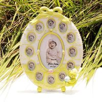 High Quality Resin Baby Boy Year Green Monthly Photo Frame Creative Birthday Gift Baby Growing Up