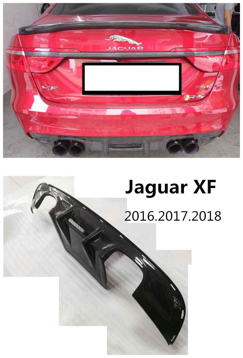 Carbon Fiber Rear Lip Spoiler For Jaguar XF 2016.2017.2018 High Quality Car Bumper Diffuser Auto Accessories