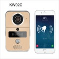 WiFi Video Door Phone Doorbell Home Security Door Wireless Intercom P2P with RFID Keyfobs,Dingdong bell Support iOS and Android