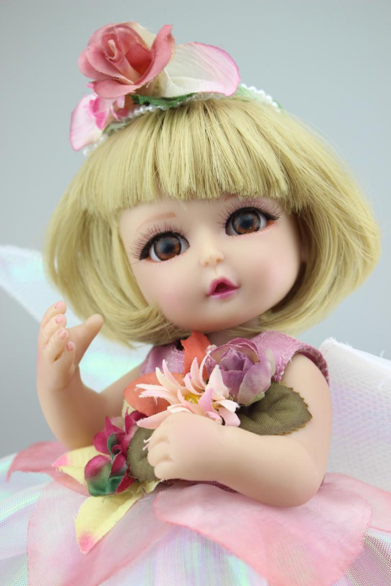new princess flower fairy elf lifelike silicone reborn bjd baby