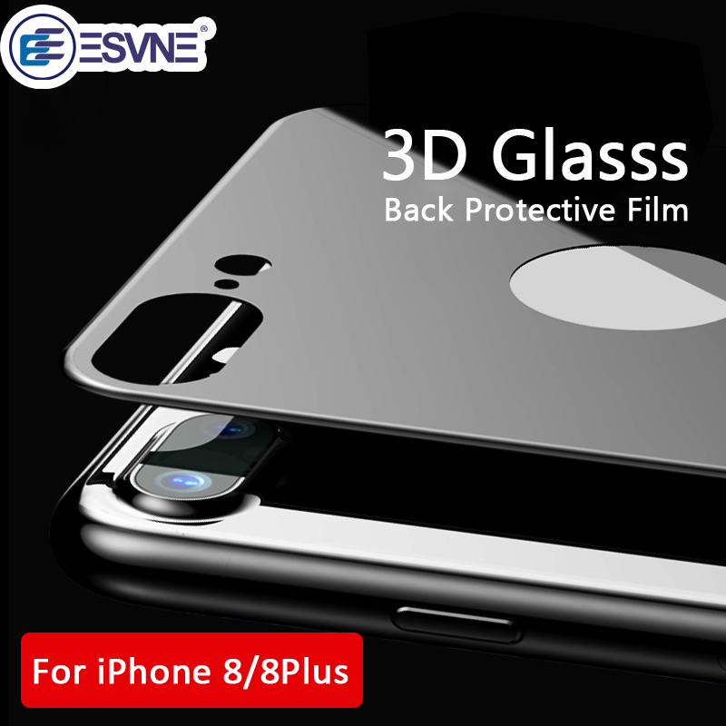 ESVNE 3D Curved Edge Back Screen Protector For iPhone 8 Glass Film iphone 8 plus Full Cover Back Tempered Glass iPhone 8