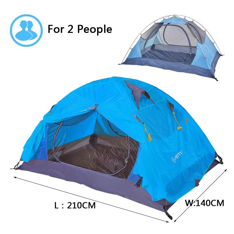 210*110cm 210T Outdoor Waterproof Major Tent Aluminium Pole 5 Colors Camping Tent 3 Season Double Camp Tent Camping Equipment